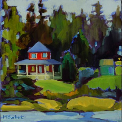 Large red cottage